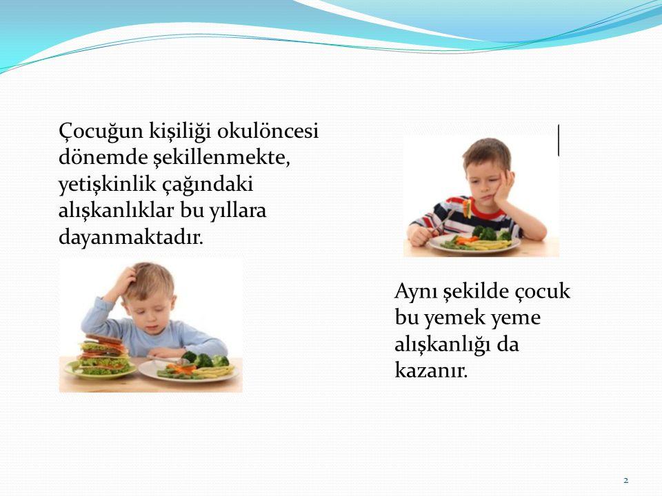 Çocuğun kişiliği okulöncesi dönemde şekillenmekte, yetişkinlik çağındaki alışkanlıklar bu yıllara dayanmaktadır.