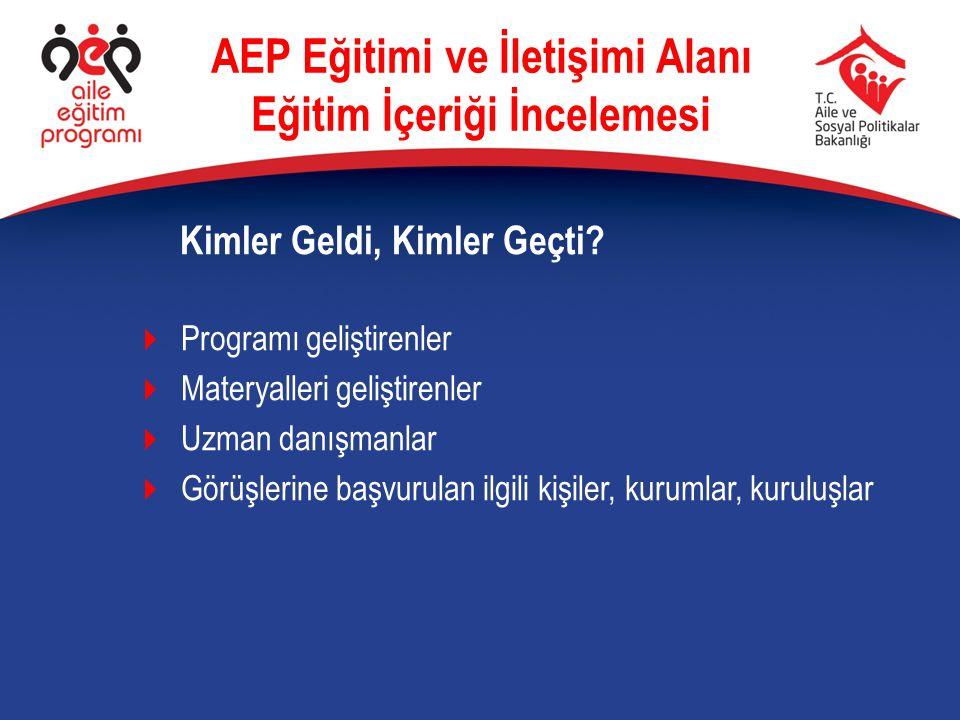 AEP Eğitimi ve İletişimi Alanı Eğitim İçeriği İncelemesi