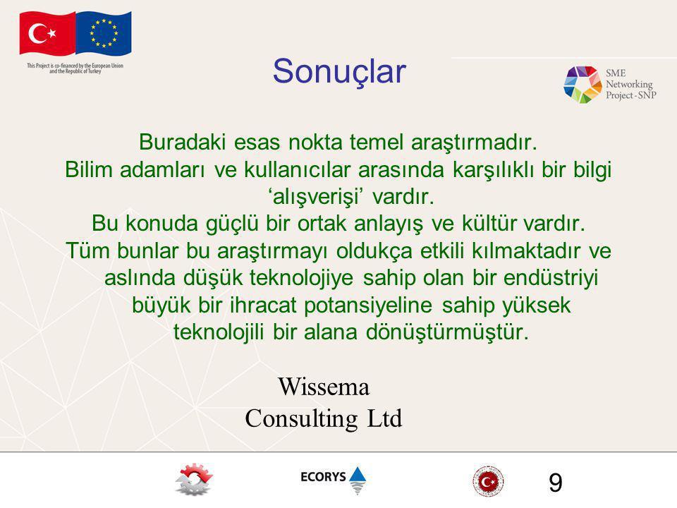 Sonuçlar Wissema Consulting Ltd