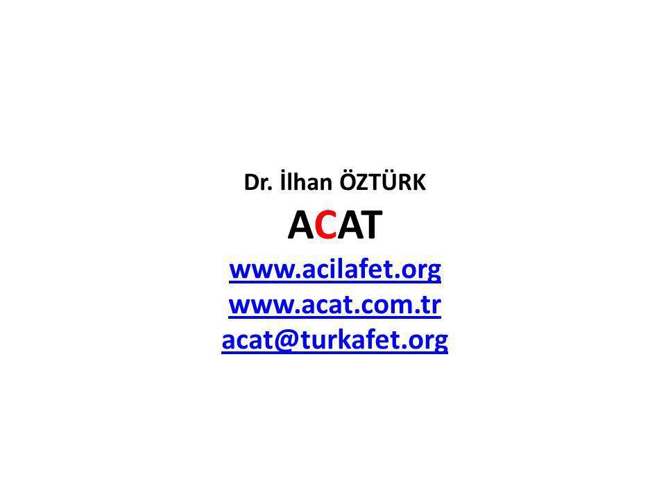 ACAT www.acilafet.org www.acat.com.tr acat@turkafet.org