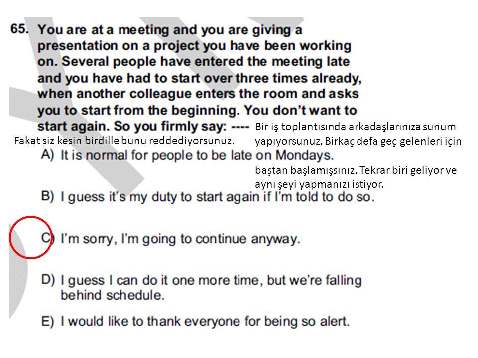 Bir iş toplantısında arkadaşlarınıza sunum