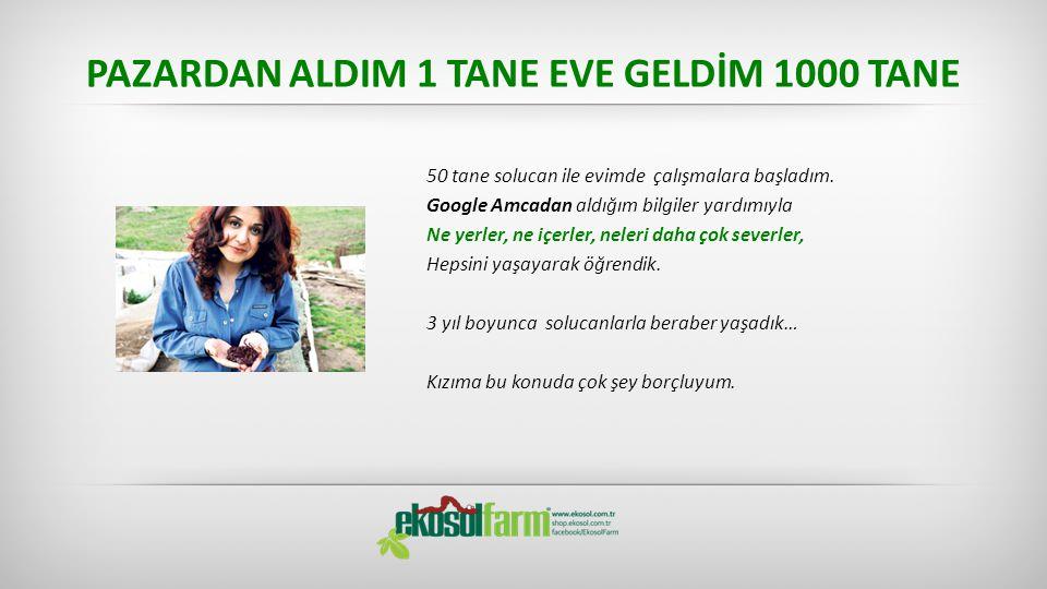 PAZARDAN ALDIM 1 TANE EVE GELDİM 1000 TANE