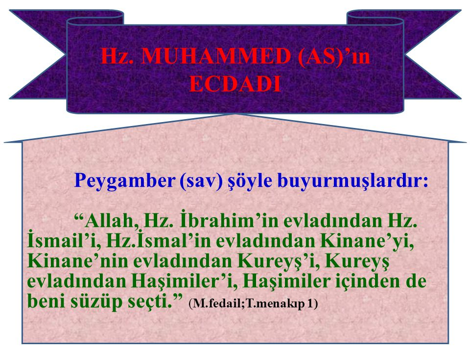 Hz. MUHAMMED (AS)'ın ECDADI