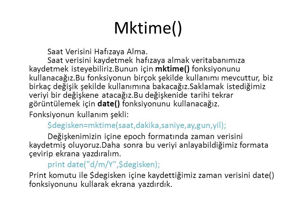 Mktime()