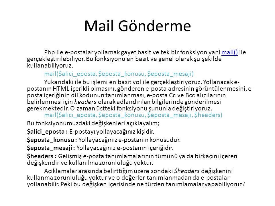 Mail Gönderme