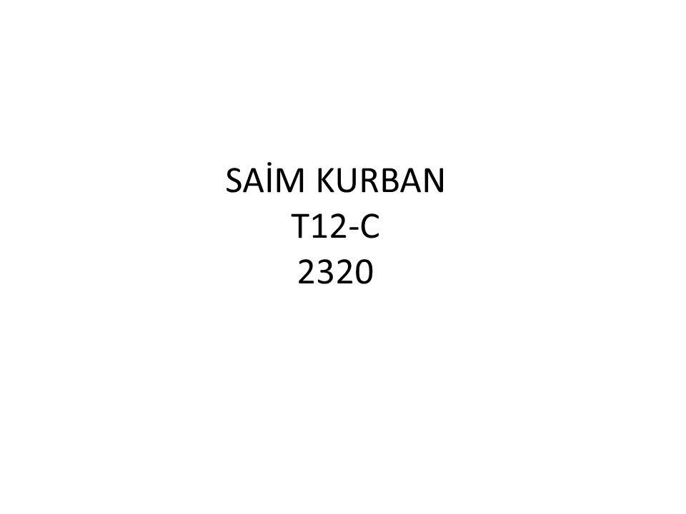 SAİM KURBAN T12-C 2320