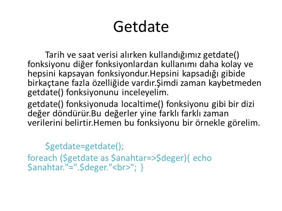 Getdate