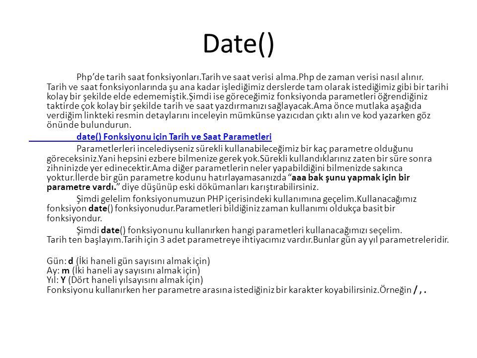 Date()
