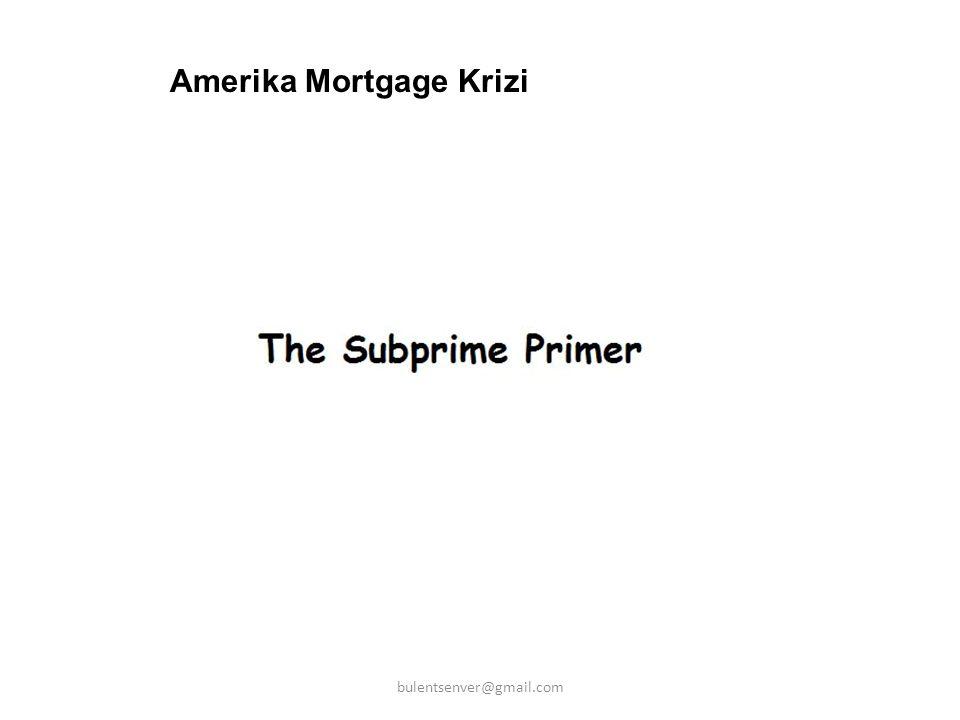 Amerika Mortgage Krizi