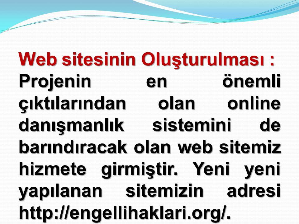 Web sitesinin Oluşturulması :