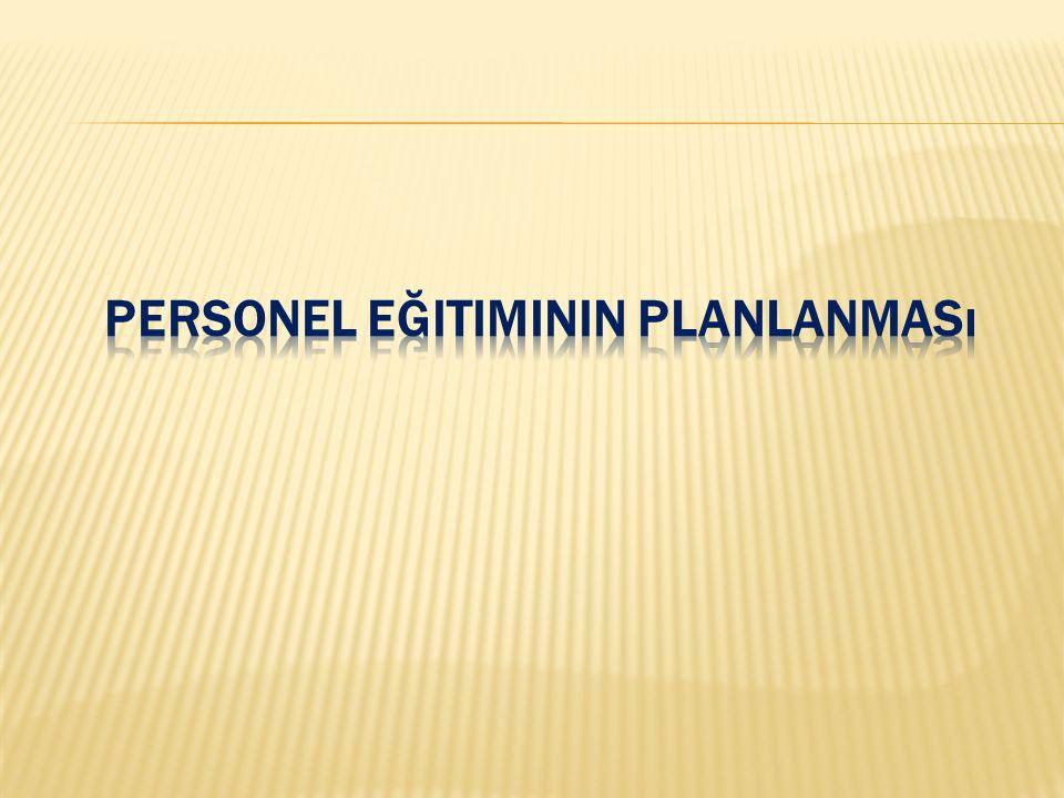 Personel Eğitiminin Planlanması