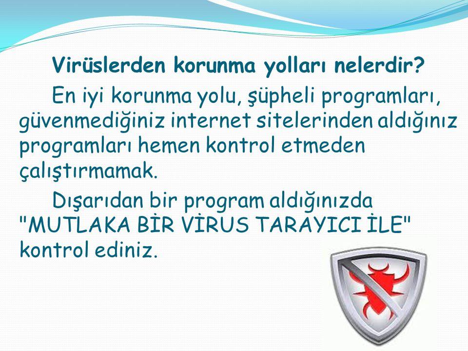 Virüslerden korunma yolları nelerdir