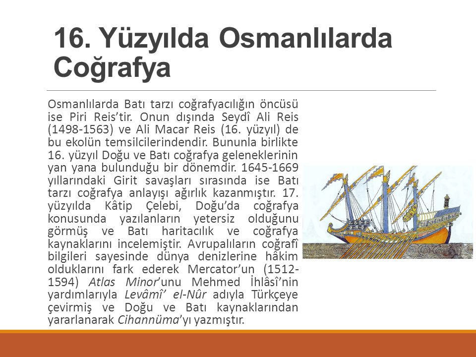 16. Yüzyılda Osmanlılarda Coğrafya
