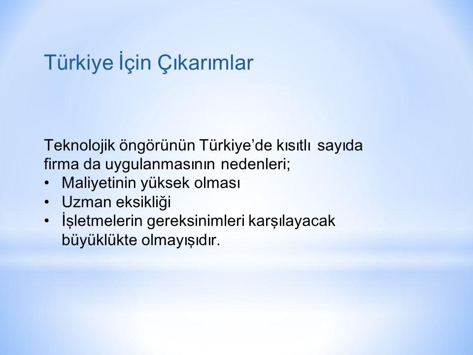 Türkiye İçin Çıkarımlar