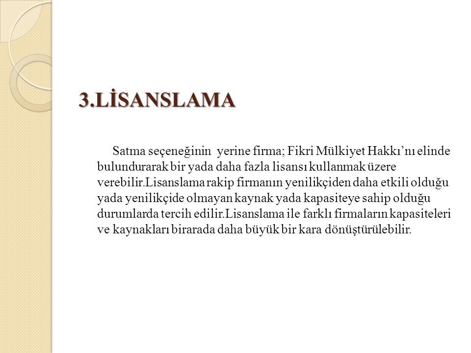 3.LİSANSLAMA