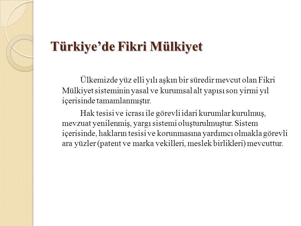 Türkiye'de Fikri Mülkiyet