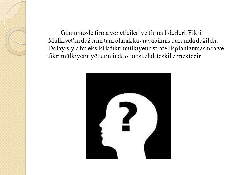 Günümüzde firma yöneticileri ve firma liderleri, Fikri Mülkiyet'in değerini tam olarak kavrayabilmiş durumda değildir.