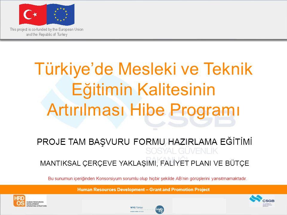 Türkiye'de Mesleki ve Teknik Eğitimin Kalitesinin Artırılması Hibe Programı