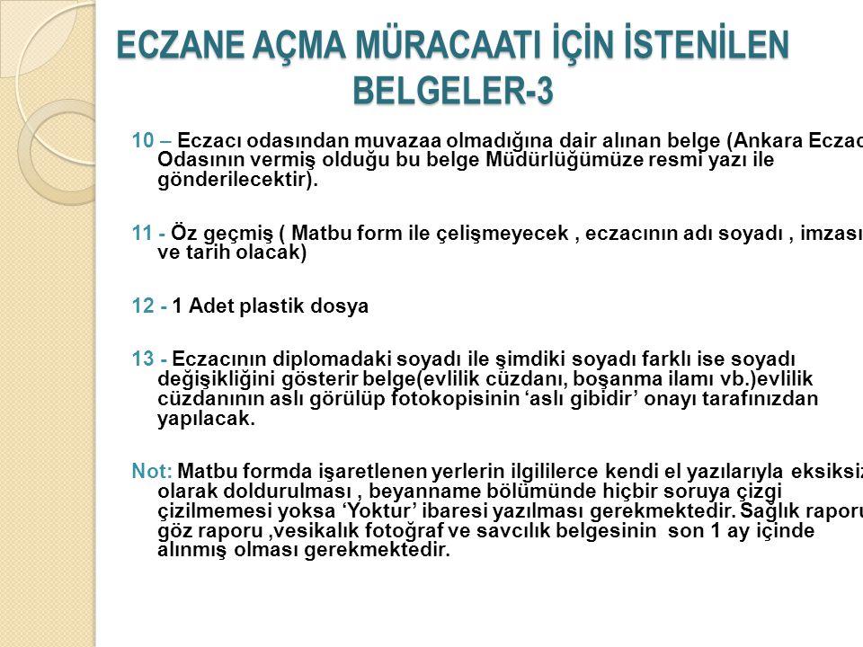 ECZANE AÇMA MÜRACAATI İÇİN İSTENİLEN BELGELER-3