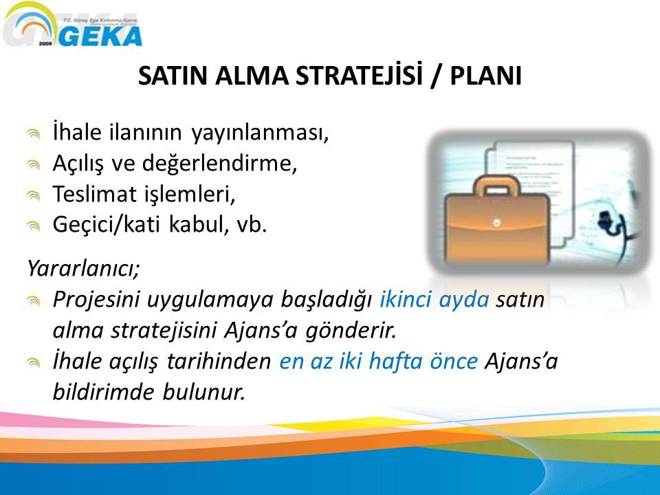 SATIN ALMA STRATEJİSİ / PLANI
