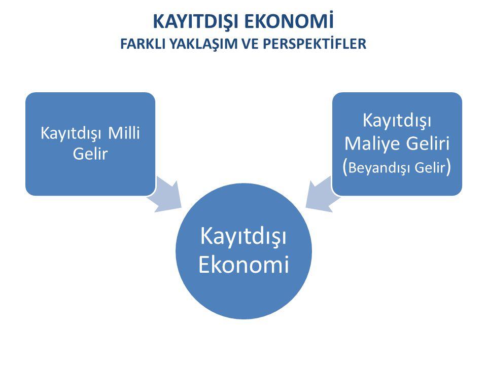 KayItdIşI Ekonomİ FarklI YaklaşIM ve Perspektİfler
