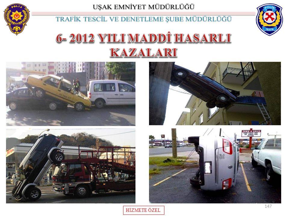 6- 2012 YILI MADDİ HASARLI KAZALARI