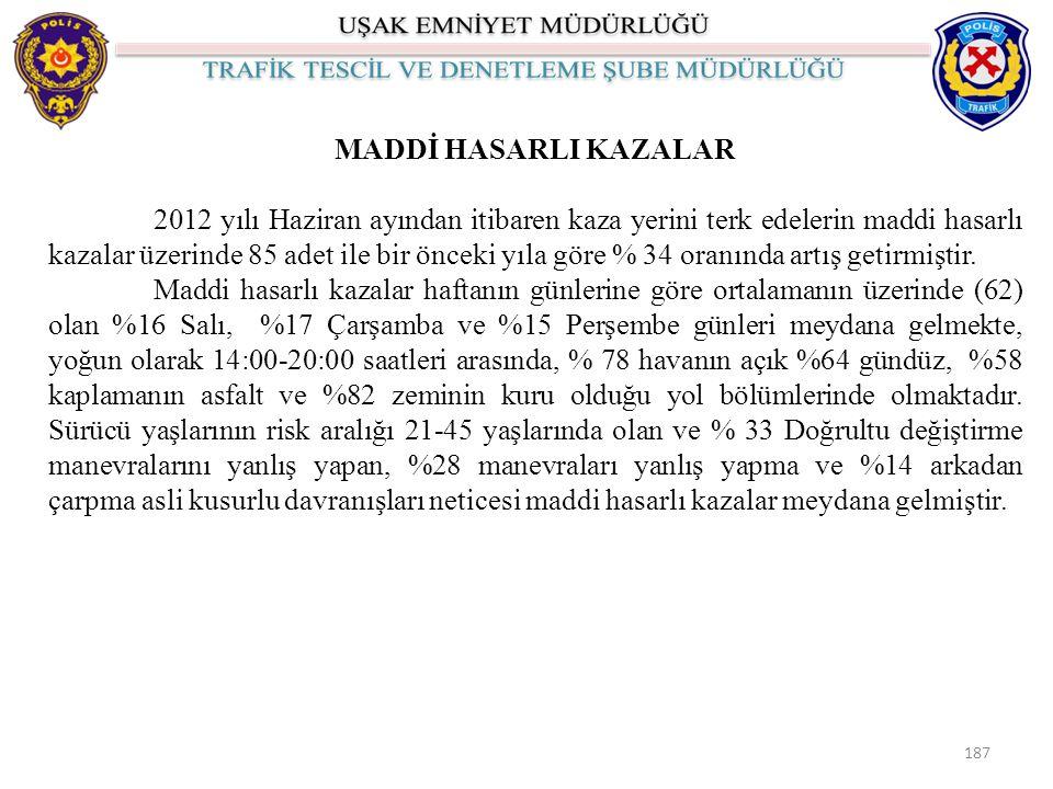 MADDİ HASARLI KAZALAR