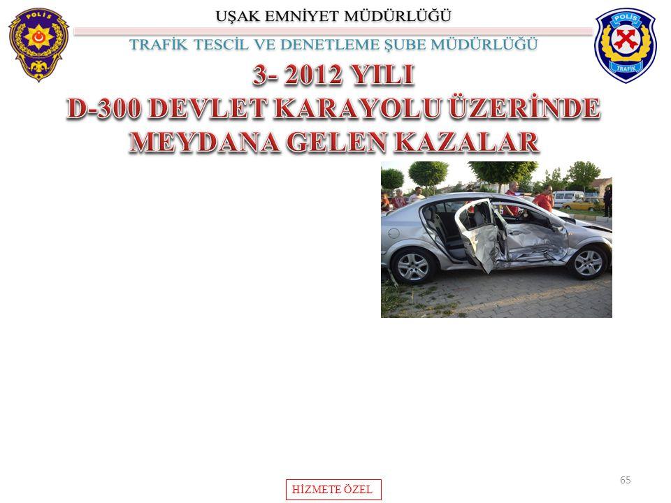 D-300 DEVLET KARAYOLU ÜZERİNDE MEYDANA GELEN KAZALAR