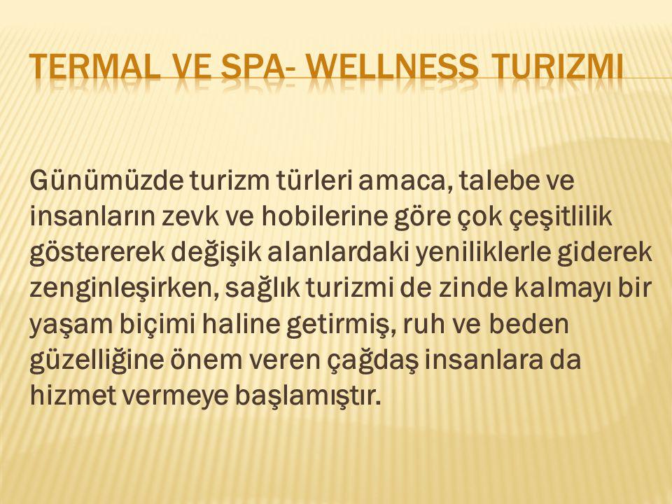 Termal ve spa- wellness turizmi