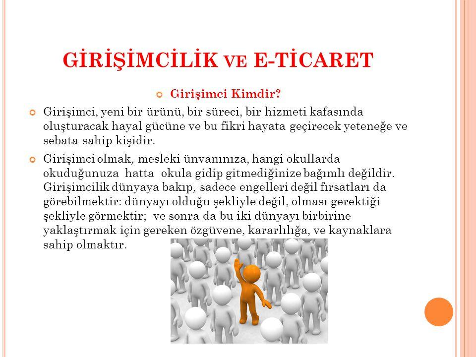 GİRİŞİMCİLİK ve E-TİCARET
