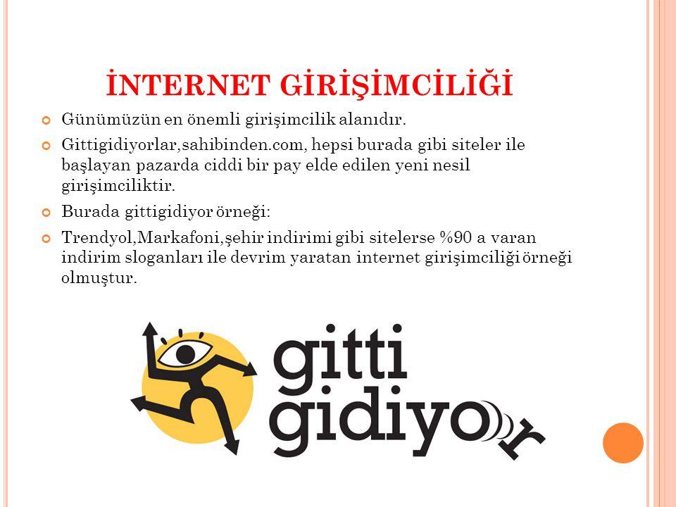 İNTERNET GİRİŞİMCİLİĞİ