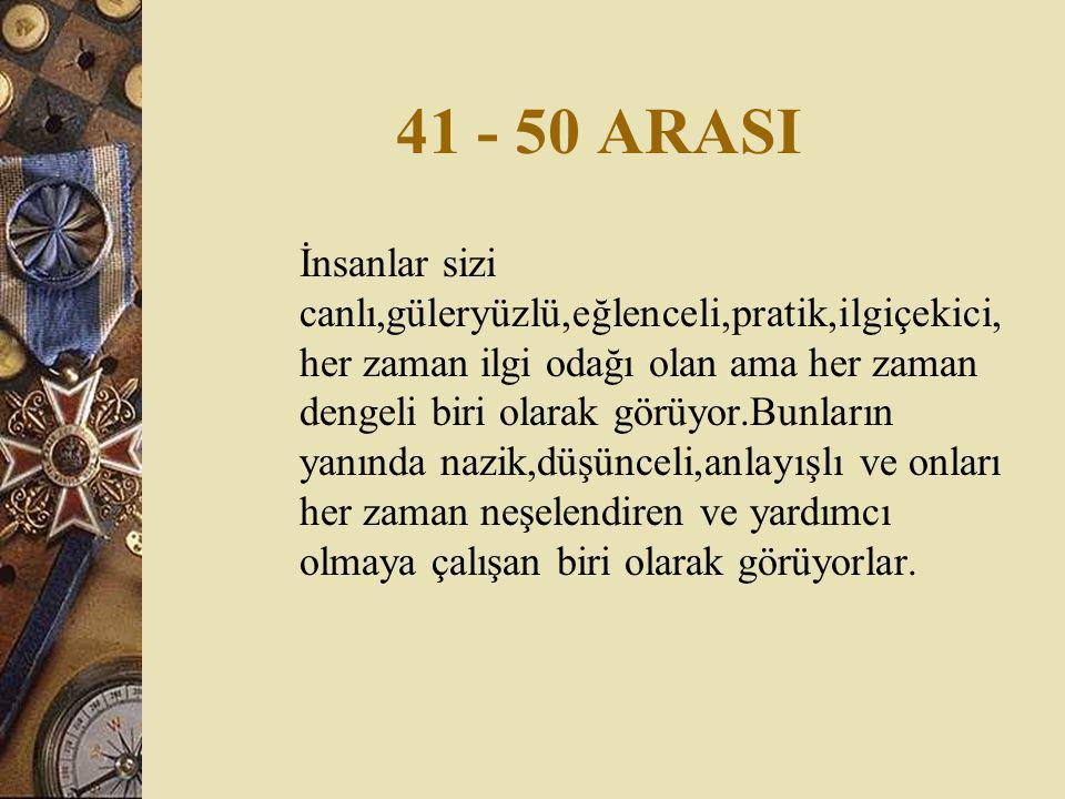 41 - 50 ARASI