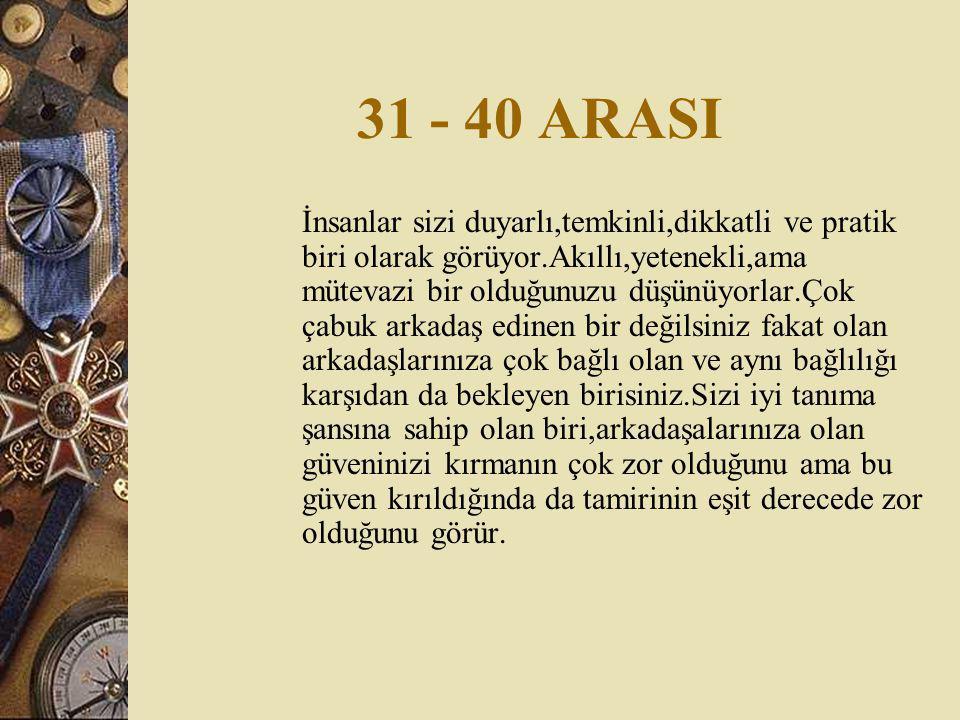 31 - 40 ARASI