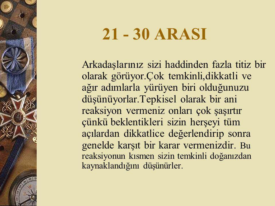 21 - 30 ARASI