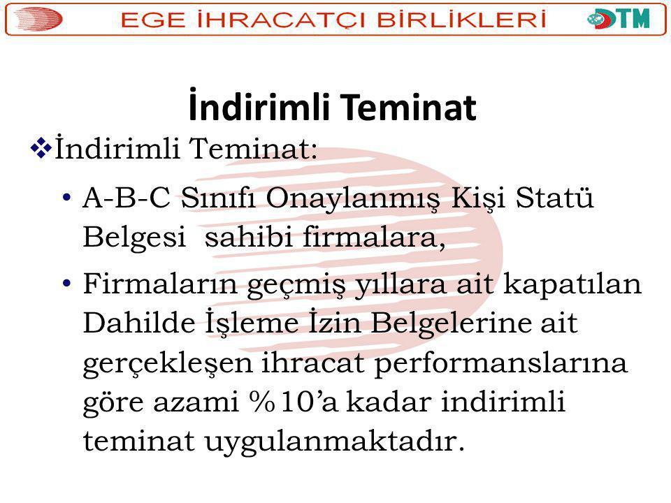 İndirimli Teminat İndirimli Teminat:
