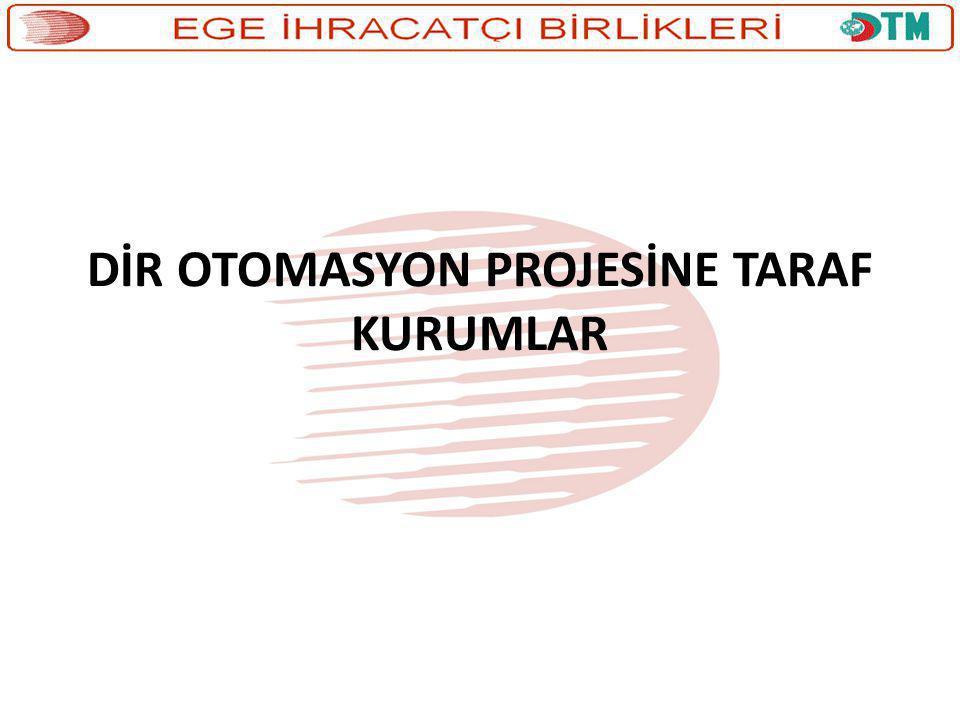 DİR OTOMASYON PROJESİNE TARAF KURUMLAR