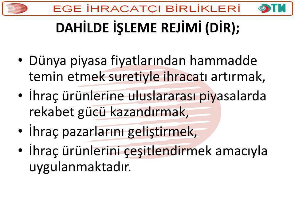 DAHİLDE İŞLEME REJİMİ (DİR);