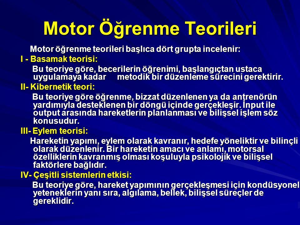 Motor Öğrenme Teorileri
