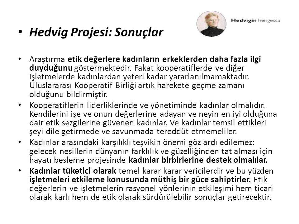 Hedvig Projesi: Sonuçlar