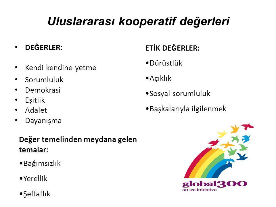Uluslararası kooperatif değerleri
