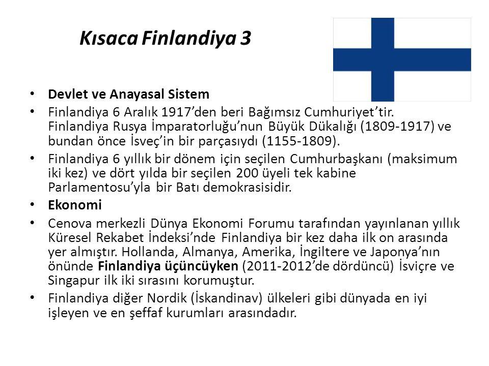 Kısaca Finlandiya 3 Devlet ve Anayasal Sistem