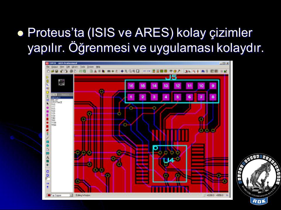 Proteus'ta (ISIS ve ARES) kolay çizimler yapılır