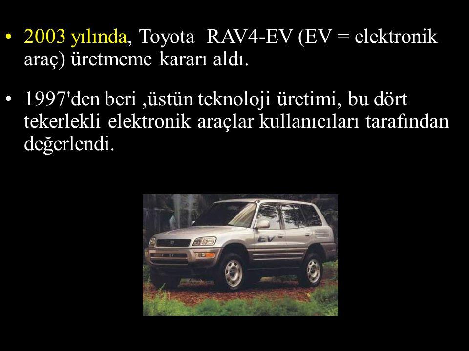 2003 yılında, Toyota RAV4-EV (EV = elektronik araç) üretmeme kararı aldı.
