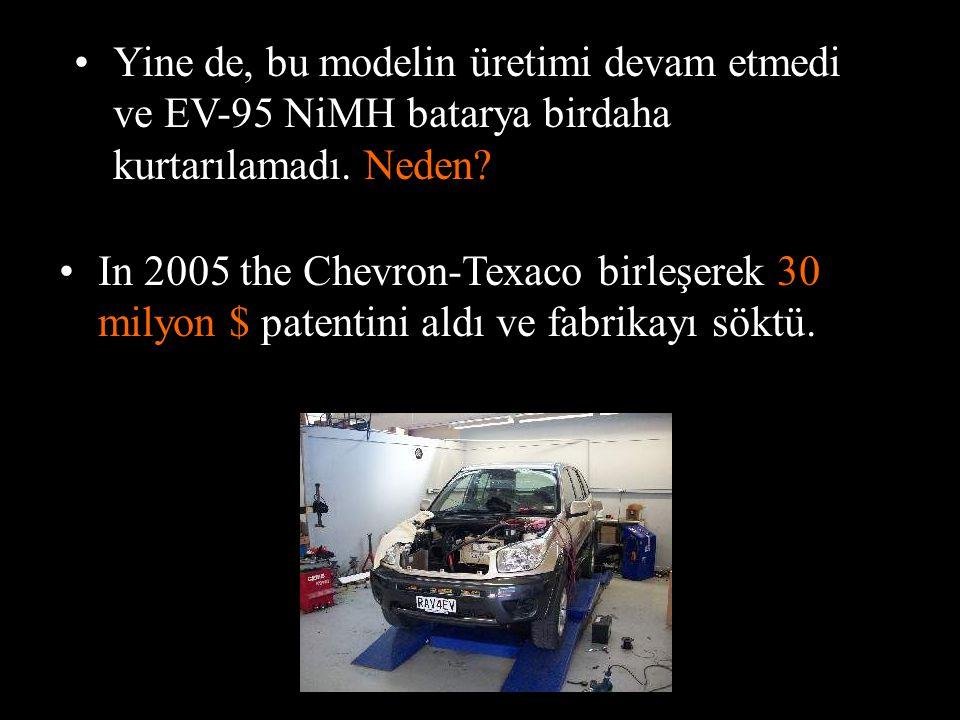 Yine de, bu modelin üretimi devam etmedi ve EV-95 NiMH batarya birdaha kurtarılamadı. Neden