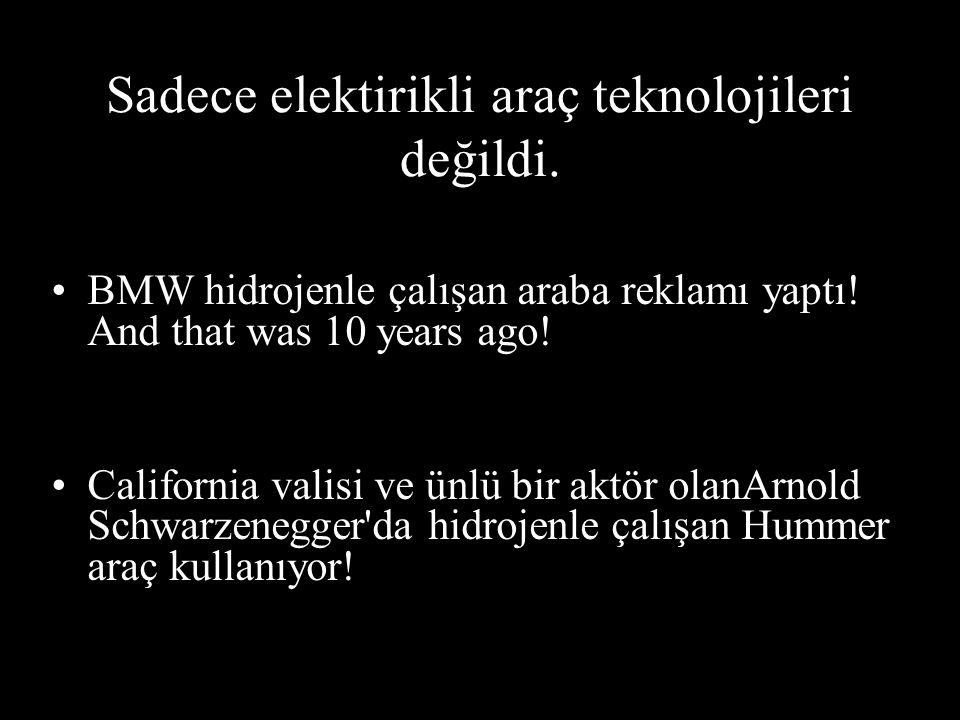 Sadece elektirikli araç teknolojileri değildi.