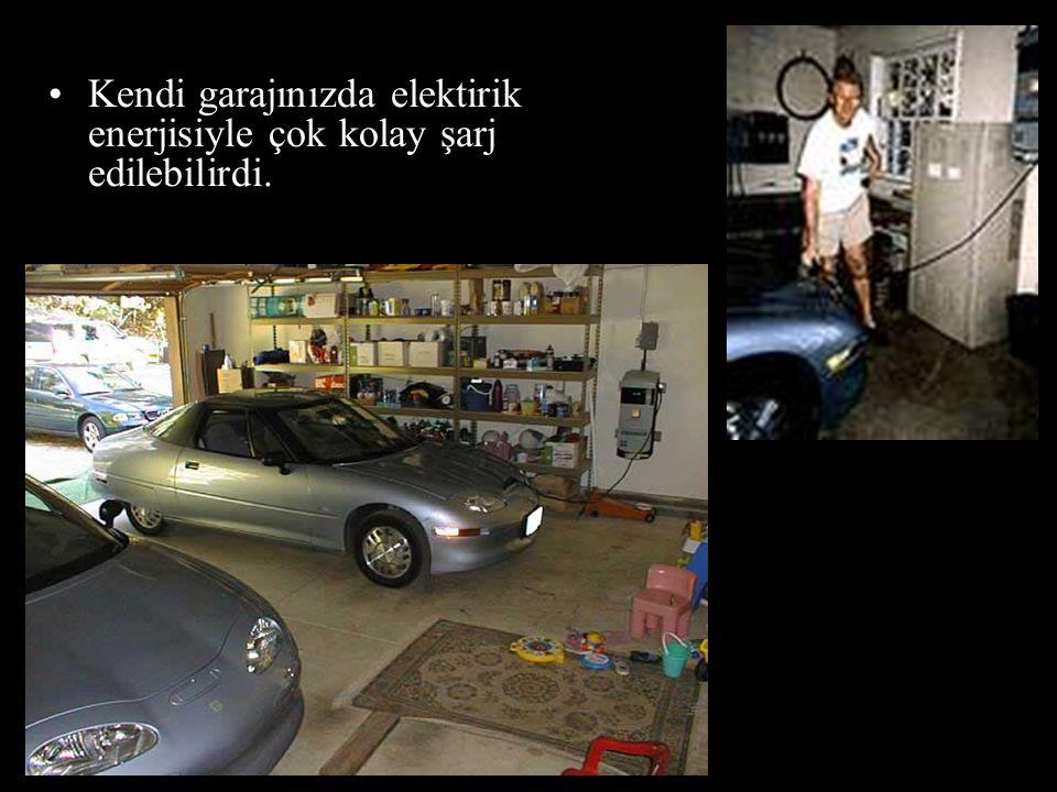 Kendi garajınızda elektirik enerjisiyle çok kolay şarj edilebilirdi.