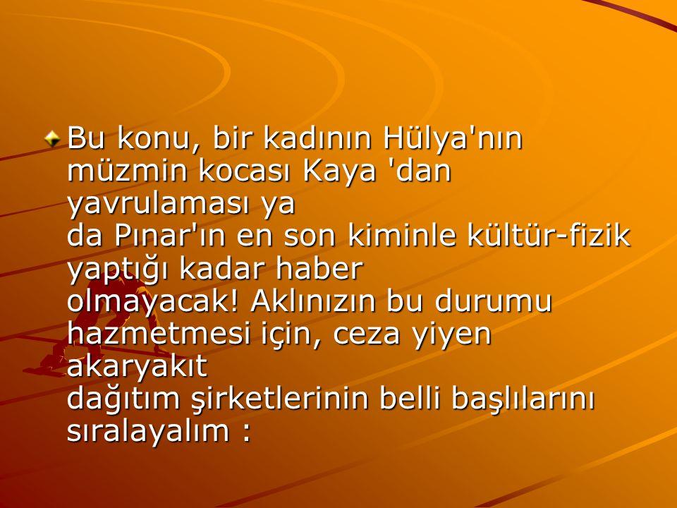 Bu konu, bir kadının Hülya nın müzmin kocası Kaya dan yavrulaması ya da Pınar ın en son kiminle kültür-fizik yaptığı kadar haber olmayacak.