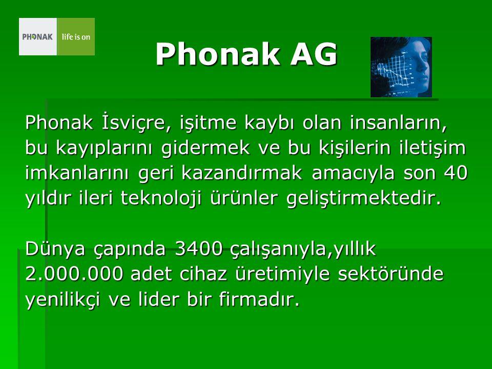Phonak AG Phonak İsviçre, işitme kaybı olan insanların,