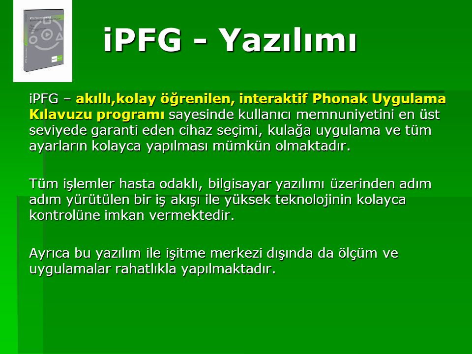 iPFG - Yazılımı