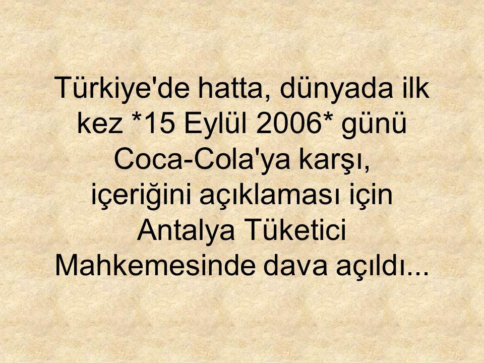 Türkiye de hatta, dünyada ilk kez. 15 Eylül 2006